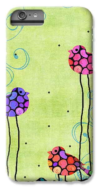 Chickadee iPhone 6 Plus Case - Three Birds - Spring Art By Sharon Cummings by Sharon Cummings