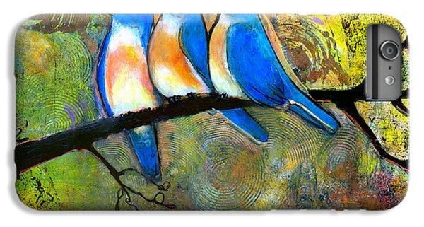 Bluebird iPhone 6 Plus Case - Three Little Birds - Bluebirds by Blenda Studio
