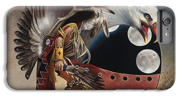 Three Moon Eagle IPhone 6 Plus Case by Ricardo Chavez-Mendez