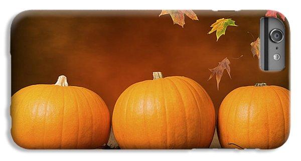 Three Pumpkins IPhone 6 Plus Case by Amanda Elwell