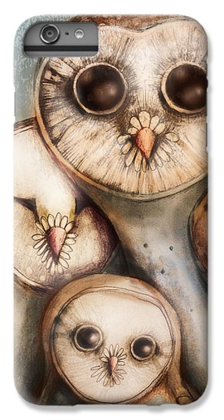 Owl iPhone 6 Plus Case - Three Wise Owls by Karin Taylor