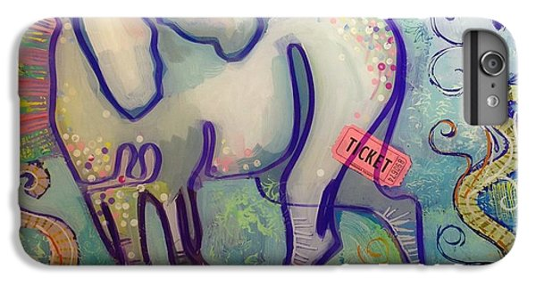 Unicorn iPhone 6 Plus Case - Ticket To Anywhere by Kimberly Santini