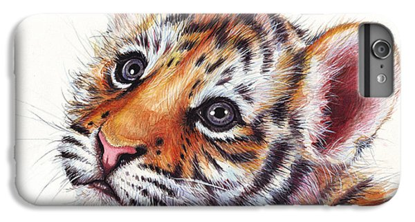 Tiger Cub Watercolor Painting IPhone 6 Plus Case