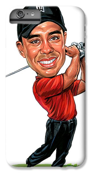 Tiger Woods IPhone 6 Plus Case by Art