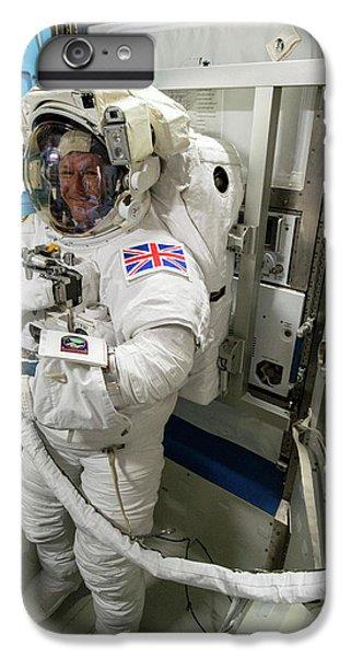 Tim Peake Preparing For Spacewalk IPhone 6 Plus Case by Nasa