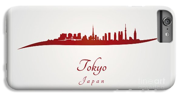 Tokyo Skyline In Red IPhone 6 Plus Case by Pablo Romero