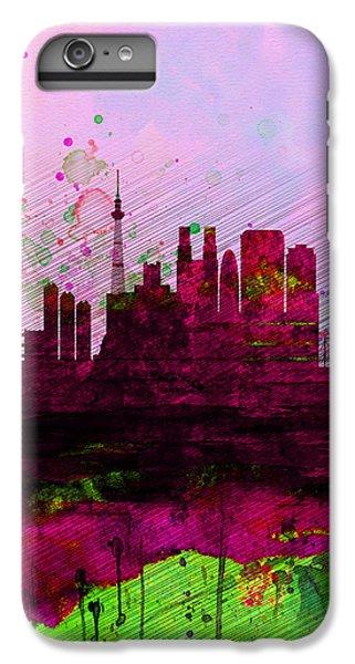 Tokyo Watercolor Skyline IPhone 6 Plus Case by Naxart Studio
