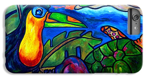 Toucan iPhone 6 Plus Case - Tortuga Eco Tour by Patti Schermerhorn