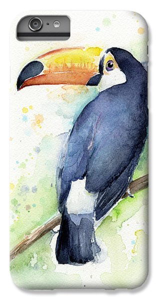 Toucan iPhone 6 Plus Case - Toucan Watercolor by Olga Shvartsur