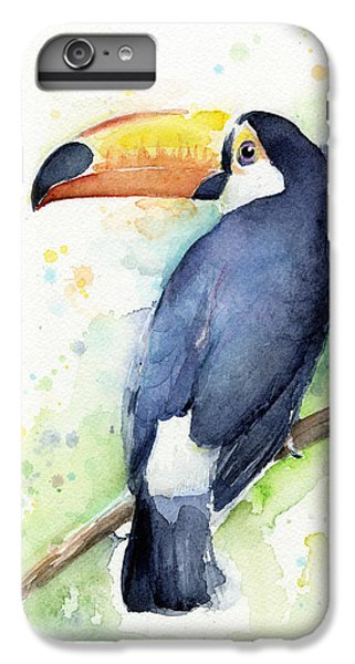Toucan Watercolor IPhone 6 Plus Case by Olga Shvartsur