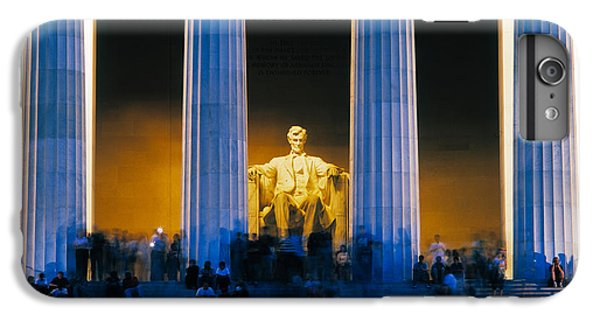 Tourists At Lincoln Memorial IPhone 6 Plus Case by Panoramic Images