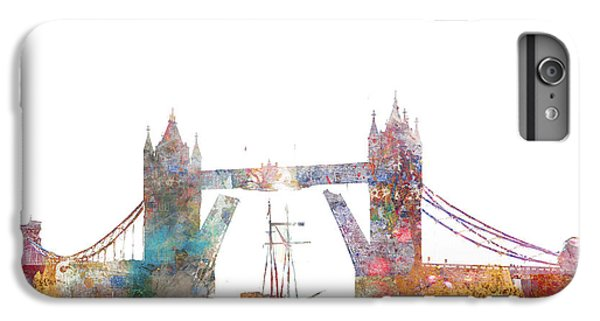 Tower Bridge Colorsplash IPhone 6 Plus Case by Aimee Stewart