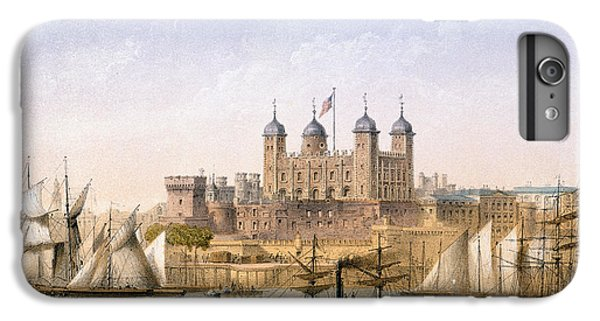 Tower Of London iPhone 6 Plus Case - Tower Of London, 1862 by Achille-Louis Martinet