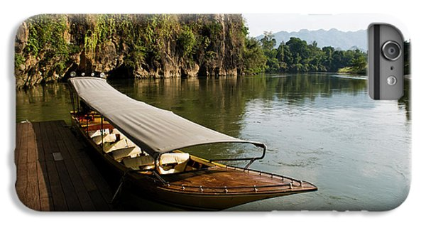 Yak iPhone 6 Plus Case - Traditional Thai Long Boat Docked by Thomas Pickard
