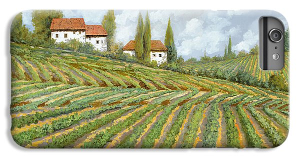 Wine iPhone 6 Plus Case - Tre Case Bianche Nella Vigna by Guido Borelli