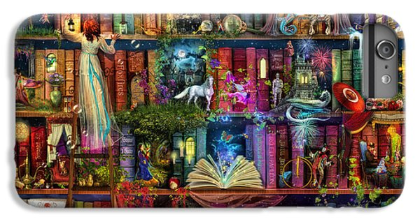 Magician iPhone 6 Plus Case - Fairytale Treasure Hunt Book Shelf by Aimee Stewart