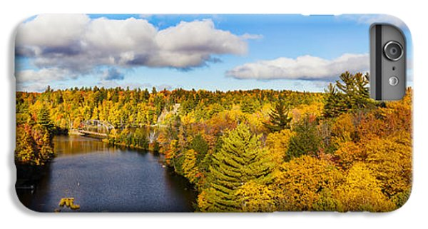 Marquette iPhone 6 Plus Case - Trees In Autumn At Dead River by Panoramic Images