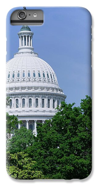 Capitol Building iPhone 6 Plus Case - Trees In Spring And U.s. Capitol Dome by Panoramic Images