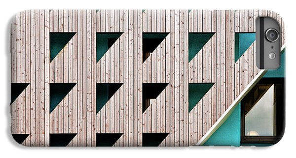 Building iPhone 6 Plus Case - Triangles by Linda Wride