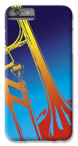 Trombone iPhone 6 Plus Case - Trombone by Daniel Troy