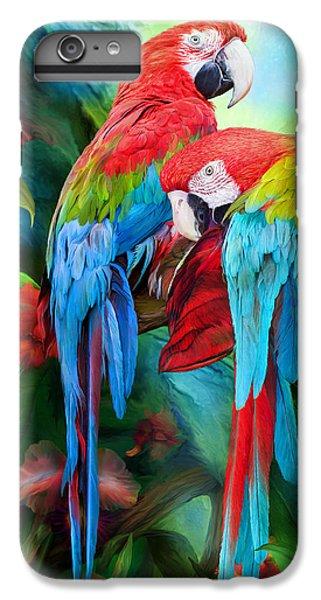 Tropic Spirits - Macaws IPhone 6 Plus Case by Carol Cavalaris