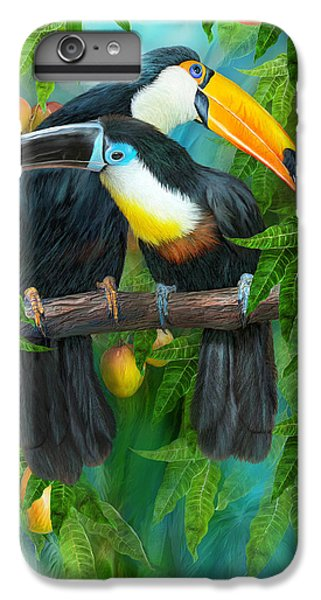 Tropic Spirits - Toucans IPhone 6 Plus Case by Carol Cavalaris