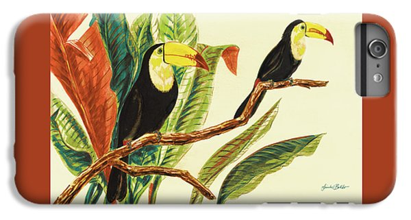 Toucan iPhone 6 Plus Case - Tropical Toucans II by Linda Baliko