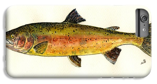 Salmon iPhone 6 Plus Case - Trout Fish by Juan  Bosco