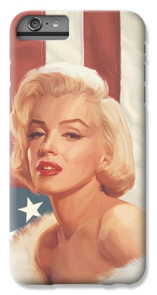 True Blue Marilyn In Flag IPhone 6 Plus Case by Chris Consani