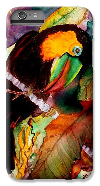 Toucan iPhone 6 Plus Case - Tu Can Toucan by Lil Taylor