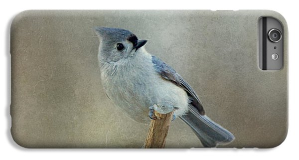 Titmouse iPhone 6 Plus Case - Tufted Titmouse Watching by Sandy Keeton
