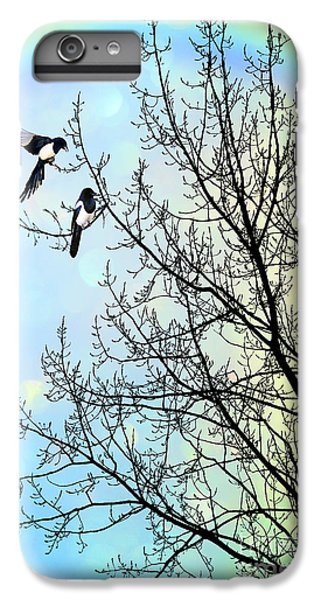 Magpies iPhone 6 Plus Case - Two For Joy by John Edwards