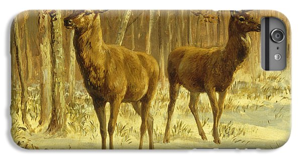Barren iPhone 6 Plus Case - Two Stags In A Clearing In Winter by Rosa Bonheur