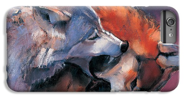 Wolves iPhone 6 Plus Case - Two Wolves by Mark Adlington