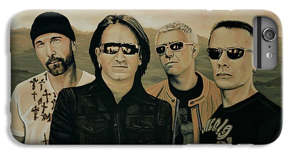 U2 Silver And Gold IPhone 6 Plus Case by Paul Meijering
