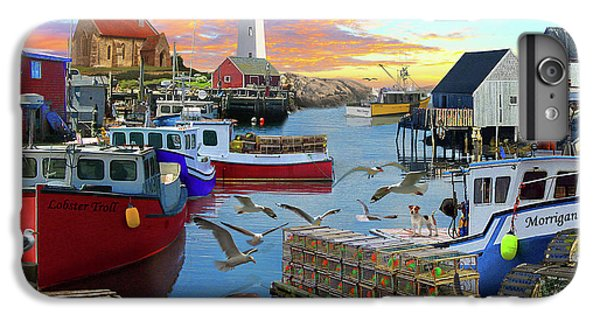 IPhone 6 Plus Case featuring the drawing Uk Boat Cove by David M ( Maclean )