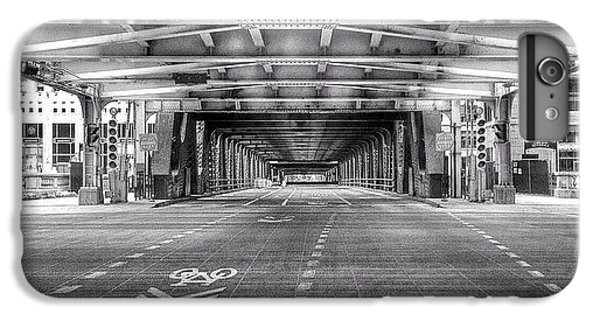 Architecture iPhone 6 Plus Case - Chicago Wells Street Bridge Photo by Paul Velgos