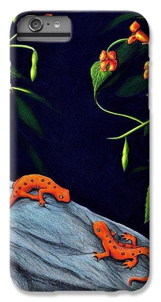 Newts iPhone 6 Plus Case - Understory by Danielle R T Haney