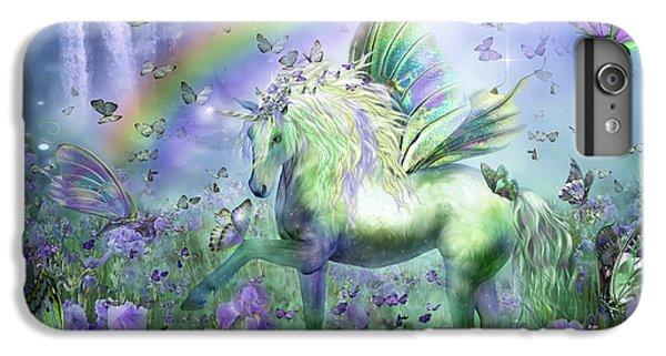 Unicorn Of The Butterflies IPhone 6 Plus Case by Carol Cavalaris