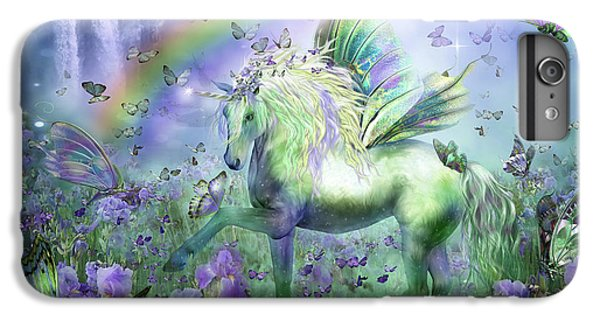 Unicorn Of The Butterflies IPhone 6 Plus Case by Carol Cavalaris