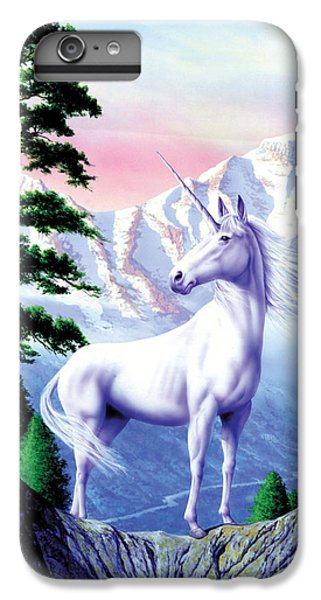 Unicorn The Land That Time Forgot IPhone 6 Plus Case by Garry Walton