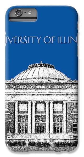 University Of Illinois Foellinger Auditorium - Royal Blue IPhone 6 Plus Case by DB Artist