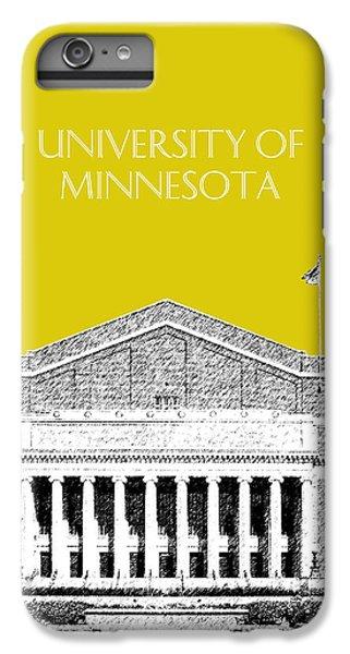University Of Minnesota 2 - Northrop Auditorium - Mustard Yellow IPhone 6 Plus Case by DB Artist