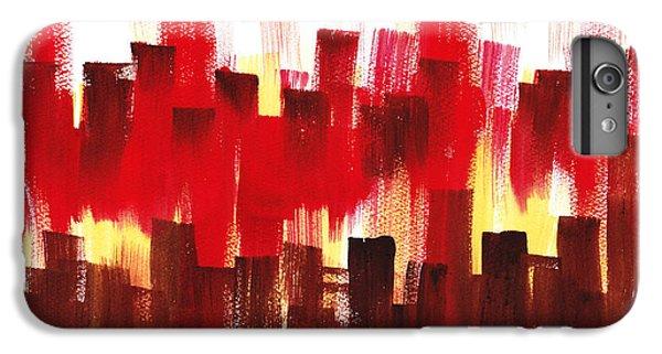 IPhone 6 Plus Case featuring the painting Urban Abstract Evening Lights by Irina Sztukowski