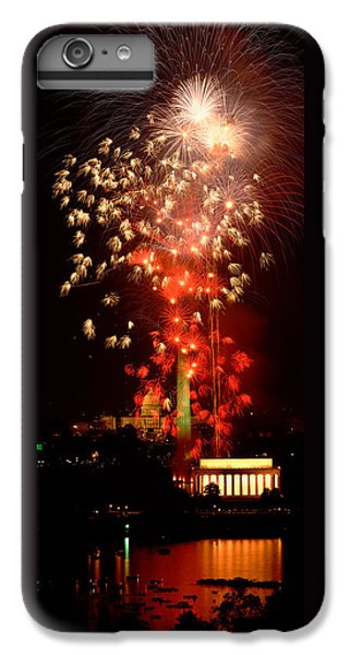 Usa, Washington Dc, Fireworks IPhone 6 Plus Case by Panoramic Images