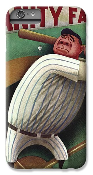 Vanity Fair Cover Featuring Babe Ruth IPhone 6 Plus Case by Miguel Covarrubias