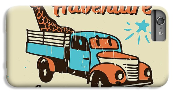 Truck iPhone 6 Plus Case - Vector Poster The Adventure Begins by Ksenia Martianova