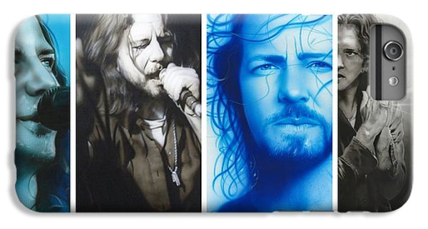 Eddie Vedder - ' Vedder Mosaic I ' IPhone 6 Plus Case by Christian Chapman Art