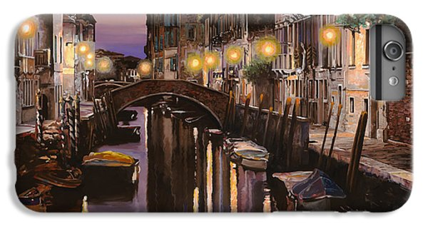 Boat iPhone 6 Plus Case - Venezia Al Crepuscolo by Guido Borelli