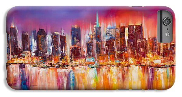 Vibrant New York City Skyline IPhone 6 Plus Case by Manit